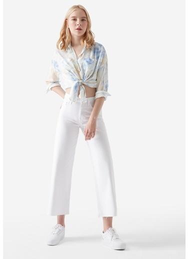 Mavi Jean Pantolon | Bodrum - Loose Beyaz